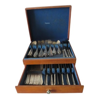 Early 20th Century Gebruder Reiner Boxed Silverware Set of 90 For Sale
