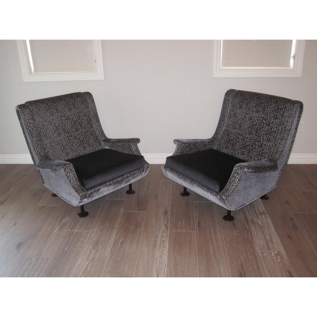 Marco Zanuso Regent Italian Lounge Chair - a Pair For Sale - Image 11 of 12