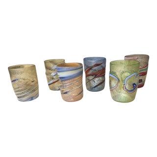 """Acqua """"Goto"""" Murrisa Cups Water Glasses in Vetro DI Muran, Italy - Set of 6 For Sale"""