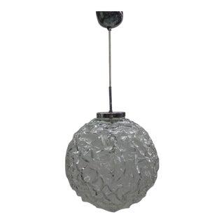 Italian 1970s Glass Ball Pendant Attributed to Mazzega