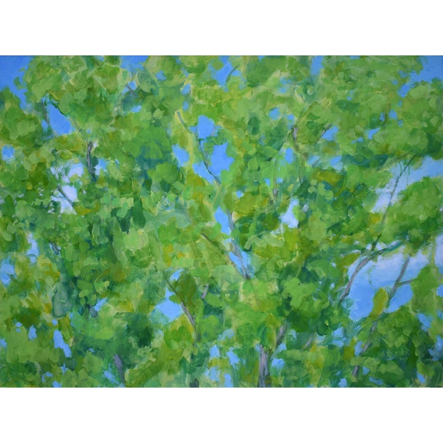 """2010s Contemporary Painting, """"Treetops Painting"""" by Stephen Remick For Sale - Image 12 of 12"""