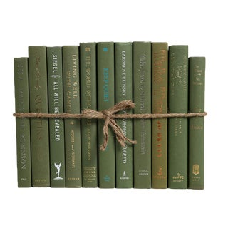 Modern Fir ColorPak : Decorative Books in Shades of Warm Green For Sale