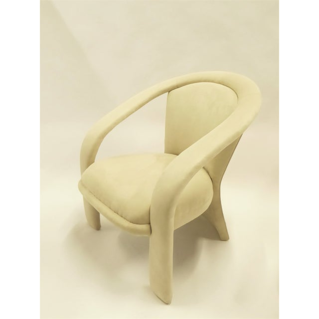 Fabric Space Age Modern Pair Pop Armchairs by Carson's, 1980s For Sale - Image 7 of 13