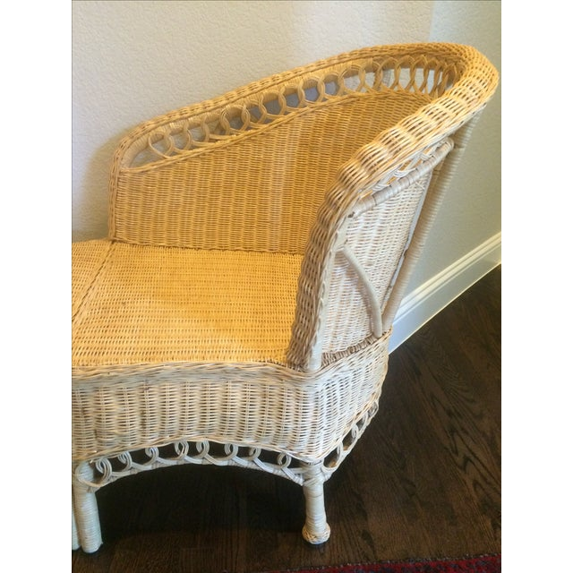Vintage Wicker Chaise Lounge For Sale - Image 4 of 9