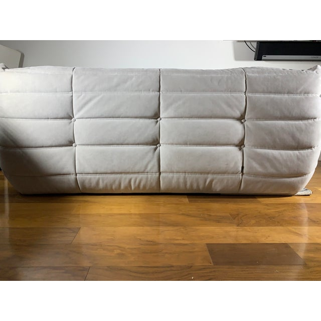 Modern Ligne Roset Alcantara Pearl Togo Sofa Chairish