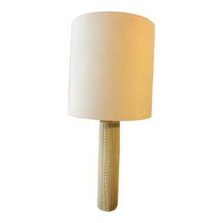 Vintage Handmade Mid Century Lamp With Shade For Sale