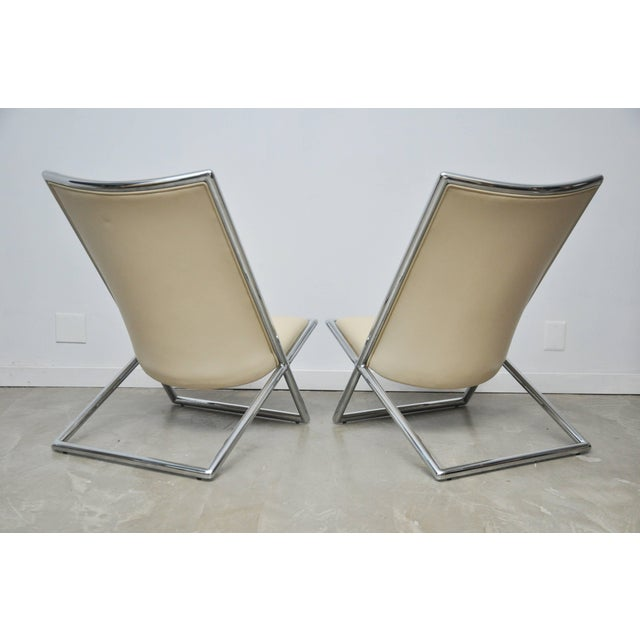 Ward Bennett Scissor Chairs For Sale In Chicago - Image 6 of 7