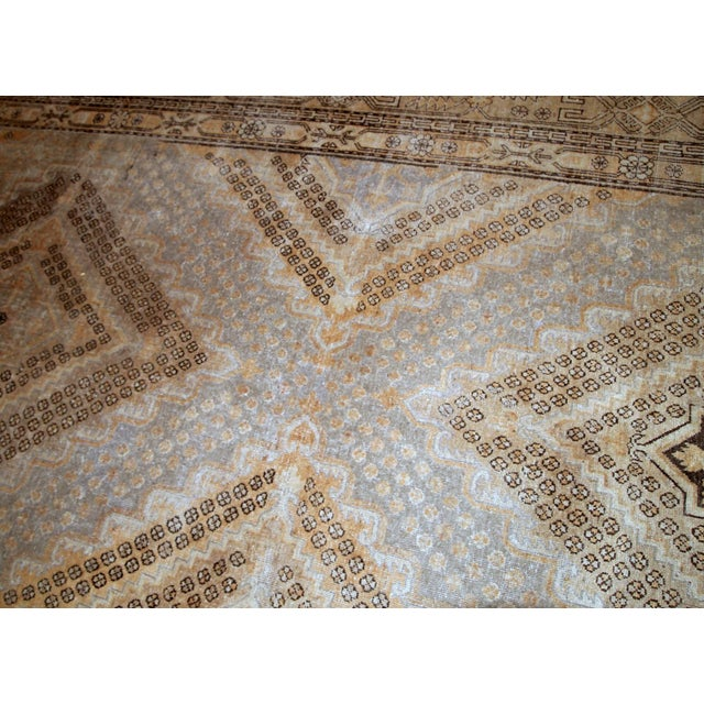 1900s Handmade Antique East Turkestan Khotan Rug 6.1' X 11.9' For Sale - Image 9 of 12