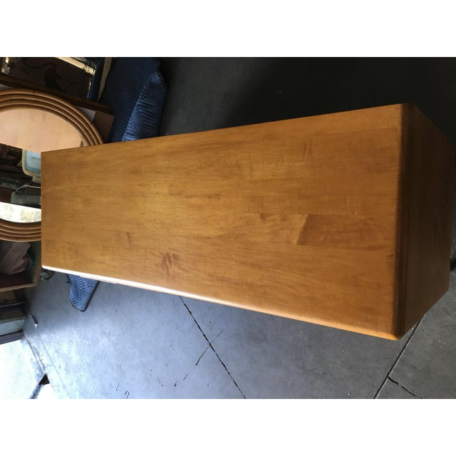 """Yellow Heywood-Wakefield """"Sculptura"""" Extra-Wide 6-Drawer Dresser For Sale - Image 8 of 10"""