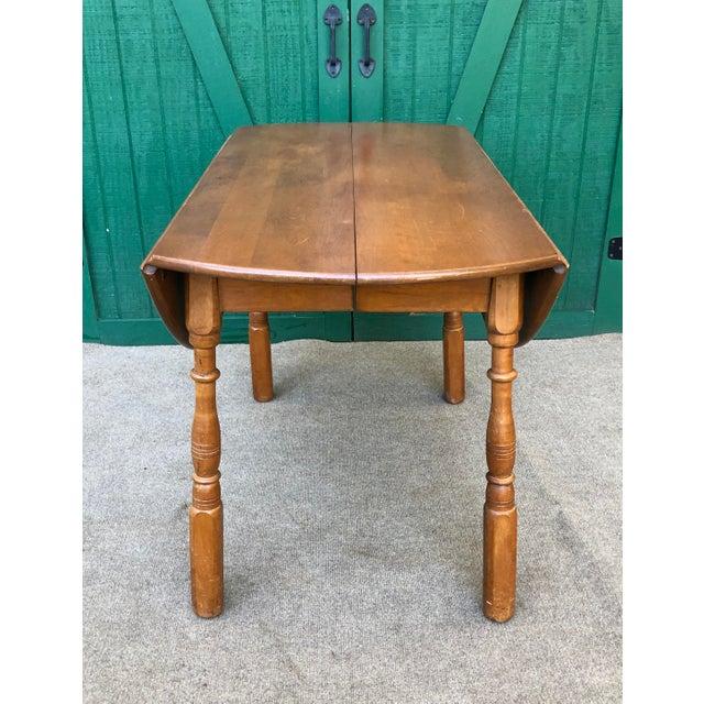 Mid-Century Modern Vintage Sibley Lindsay & Curr Co. Drop Leaf Kitchen Table For Sale - Image 3 of 13