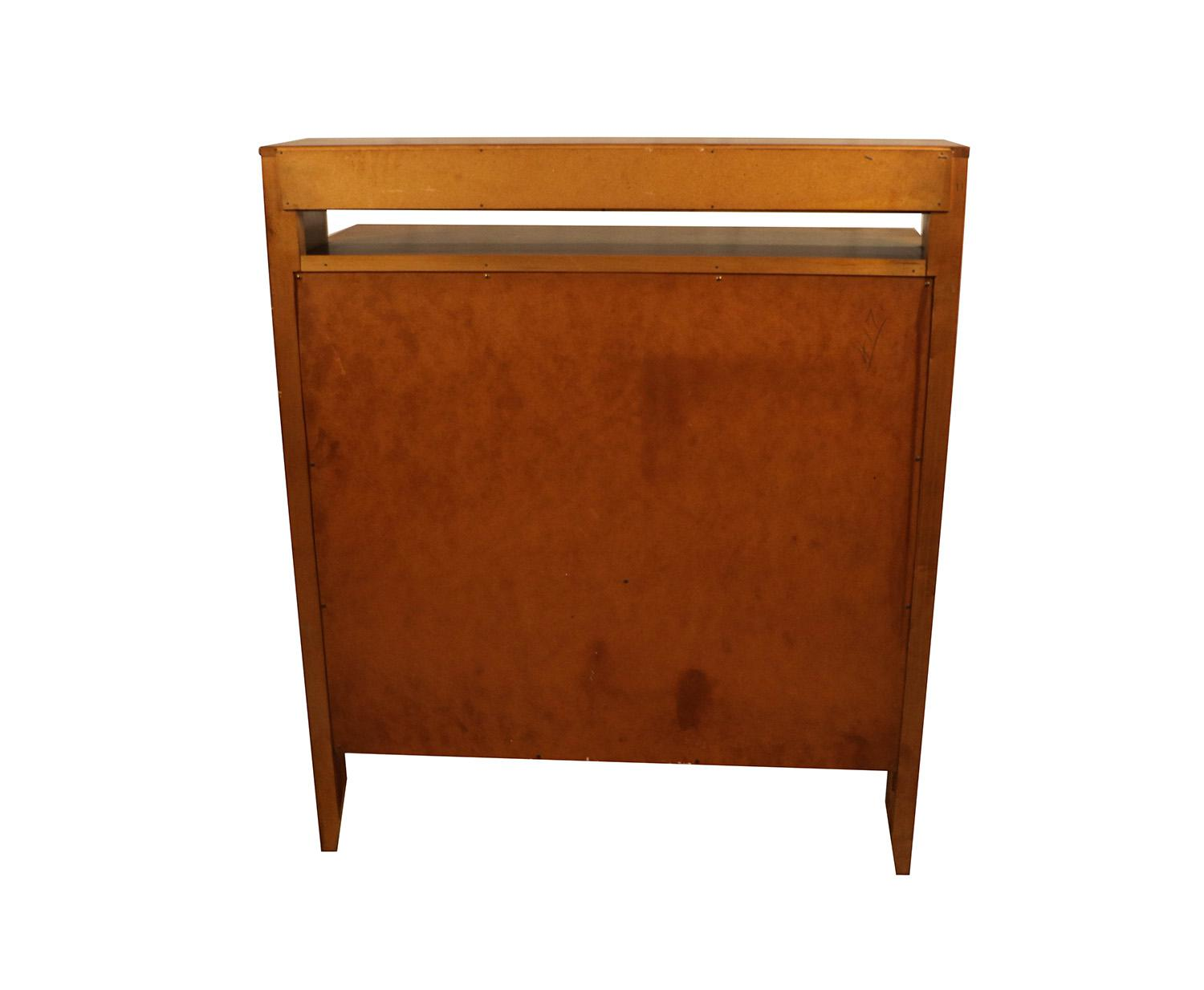 West Michigan Furniture Company Mid Century Modern Bar Cabinet Highboy  Dresser   Image 8 Of 11