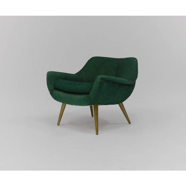 Pair of Sculptural Lounge Chairs by Lawrence Peabody for Selig For Sale In Boston - Image 6 of 9