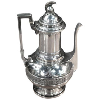 Tiffany & Company, English Sterling 550 Broadway, Neo-Greek Coffee Pot For Sale