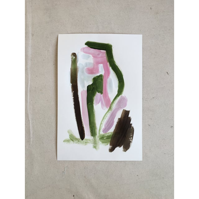 Original Abstract Painting on Paper No. 123 - Image 4 of 4
