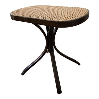 1960s American Classical Cane Wood Accent Table