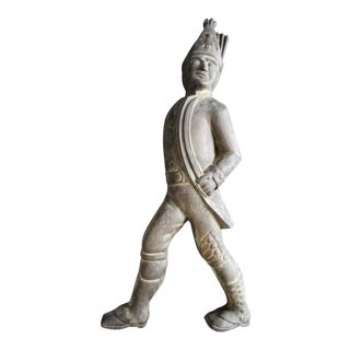 Late 19th Century Hessian Soldier Cast Bronze Andiron Figure 19th Century For Sale