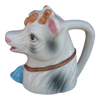 Ceramic Whimsical Cow Creamer