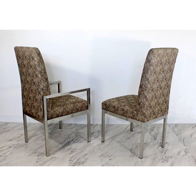 1970s Mid-Century Modern Set of Six Milo Baughman for Dia Chrome Dining Chairs For Sale - Image 5 of 10