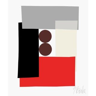 """Red Tuxedo"" Fine Art Print 20"" X 24"" by Liz Roache For Sale"