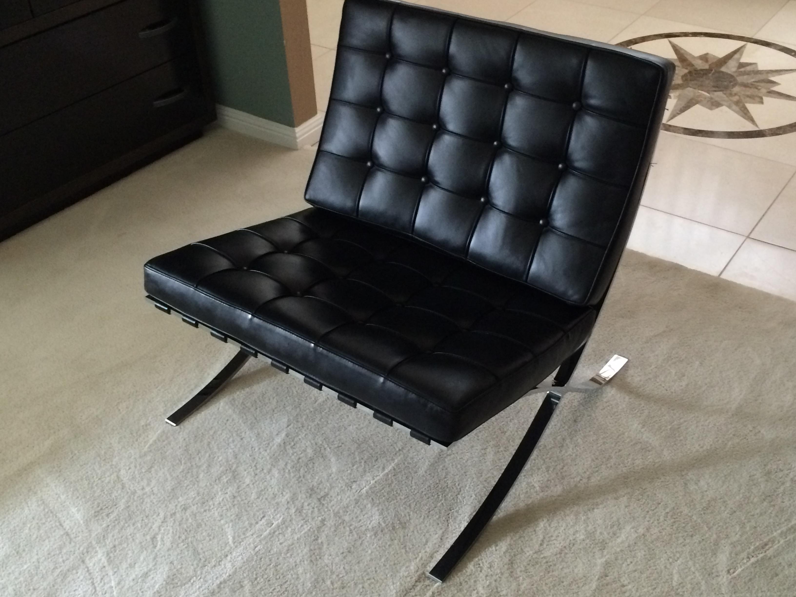 Charmant Leather Barcelona Chair U0026 Ottoman By Alivar   Image 6 ...