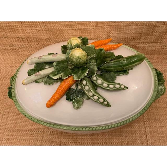 English 1970s Trompe l'Oeil Covered Vegetable Dish For Sale - Image 3 of 8