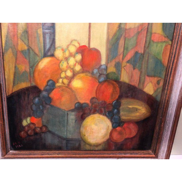 1960s Vintage Mid-Century Still Life on Board Painting For Sale - Image 5 of 13