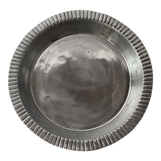Large Pewter Serving Platter For Sale
