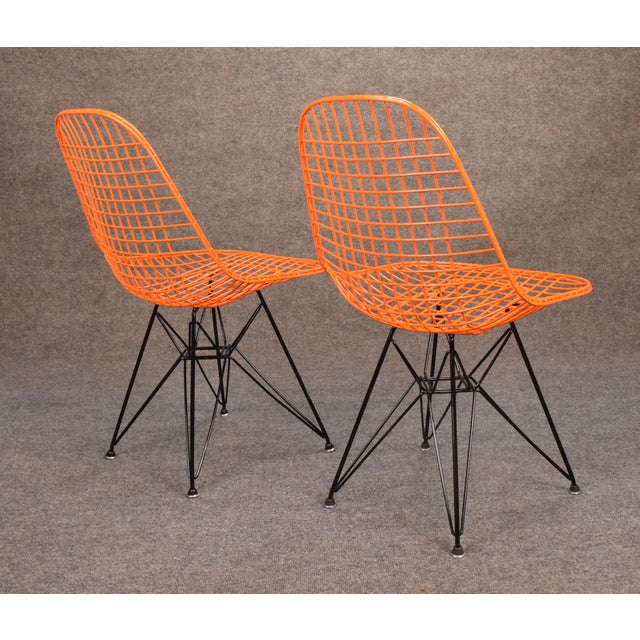 Mid-Century Modern Vintage Herman Miller for Eamer Mid-Century Dkr Orange Chairs For Sale - Image 3 of 11