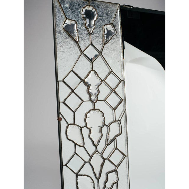 1940s Opulent Hollywood Regency Mirror With Large Cut Crystals, 1940's For Sale - Image 5 of 12