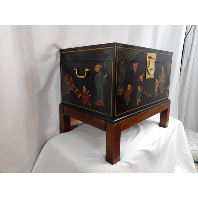 Drexel Chinoiserie makes an appearance as this all-time favorite storage chest. It is functional, beautiful and can serve...