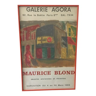 1969 Abstract Maurice Blond Original Gallery Poster