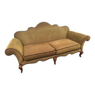 Vintage Hickory Olive Green Camelback Sofa For Sale