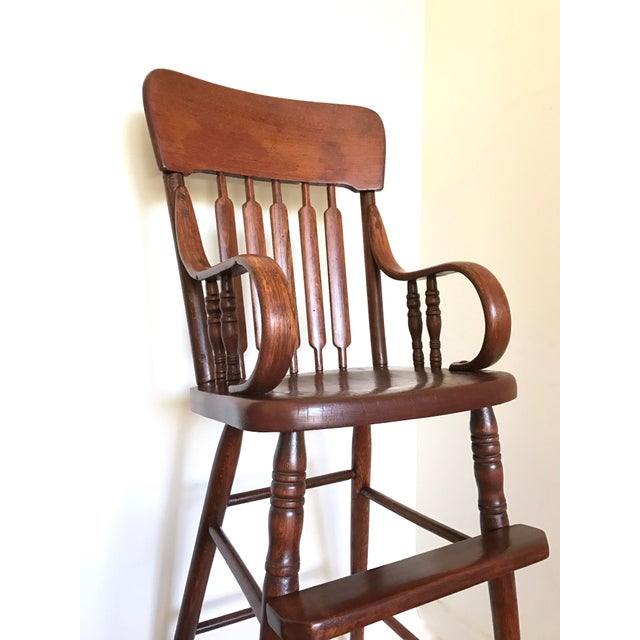 Antique Bentwood Child's High Chair - Image 5 of 7