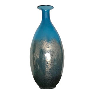 Metallic Speckle Turquoise Bottle Vase