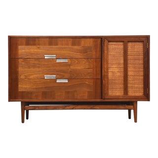 American of Martinsville Walnut Mid Century Modern Credenza Dresser For Sale
