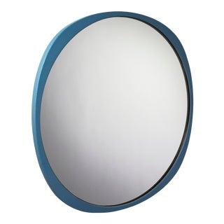Contemporary Petrol Blue Frame Fade Mirror For Sale