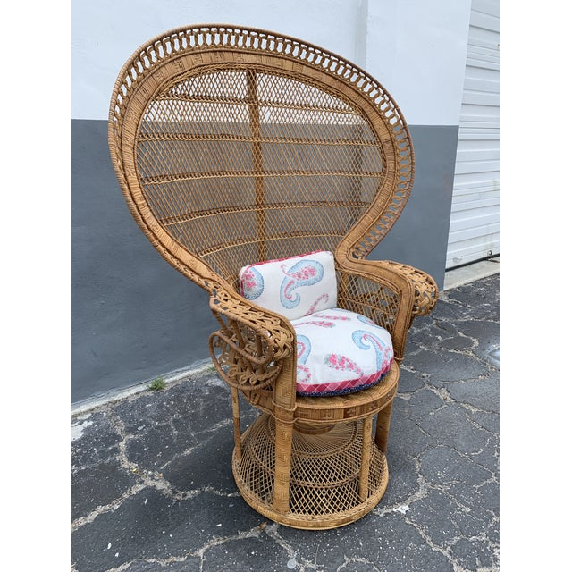 Vintage Wicker Peacock Chair For Sale - Image 10 of 12