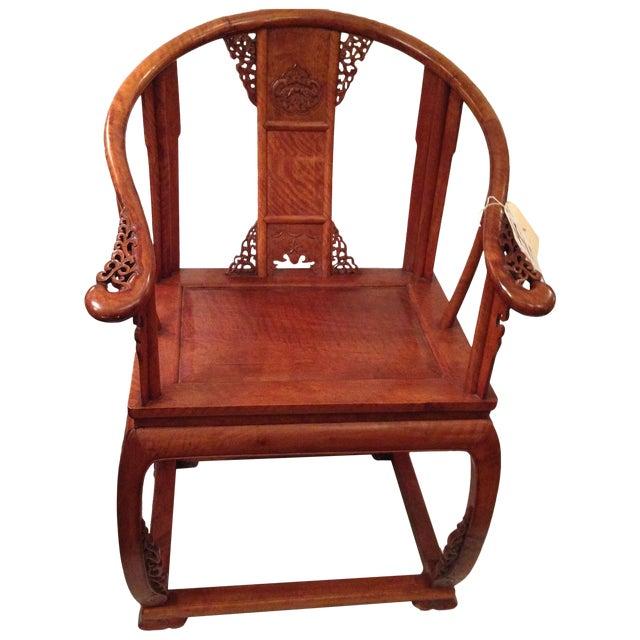 19th Century Hardwood Horseshoe Chairs - A Pair - Image 1 of 7