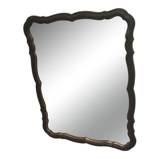 Traditional Black and Gold Scalloped Mirror