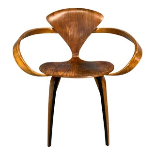 "Norman Cherner Iconic Mid-Century Modern ""Pretzel"" Armchair for Plycraft Co. For Sale"