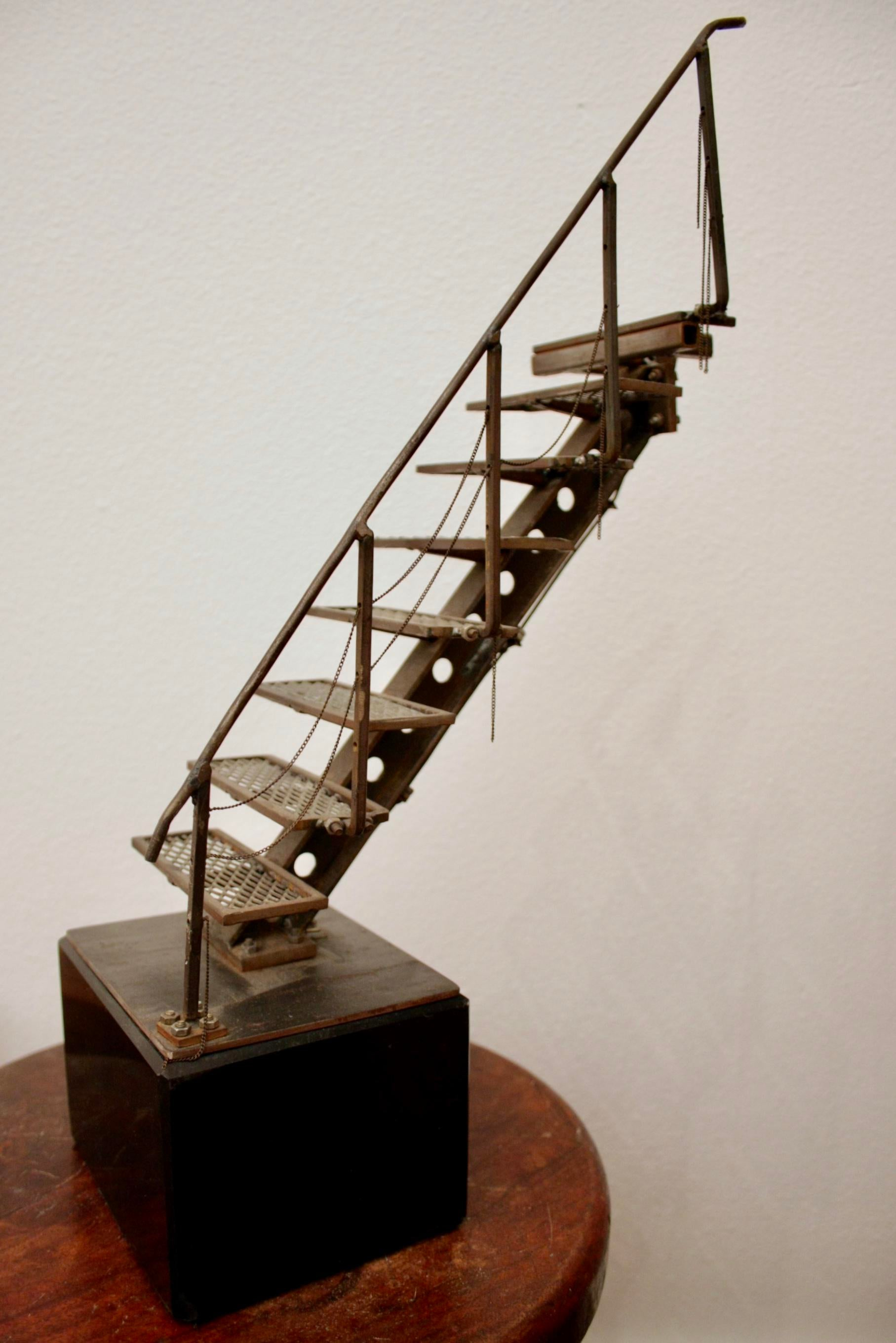 Abstract Antique Hand Welded Architectural Stair Model For Sale   Image 3  Of 13