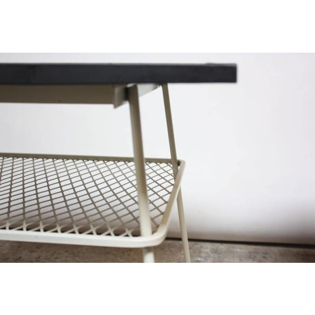 Pair of Slate and Iron Tables by Russell Woodard - Image 5 of 11