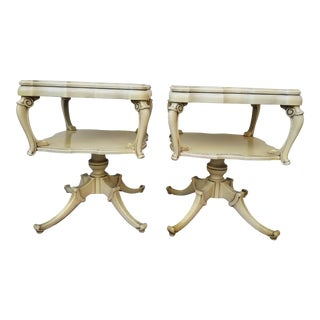 Mid 20th Century French Provincial Sculptural End Tables - a Pair For Sale