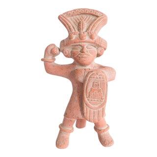 1980s Native American Terra Cotta Figurine For Sale