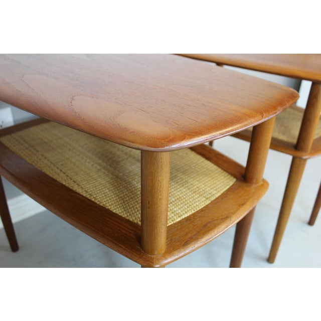 Danish Modern Peter Hvidt MCM Solid Teak End Table - A Pair For Sale - Image 3 of 9