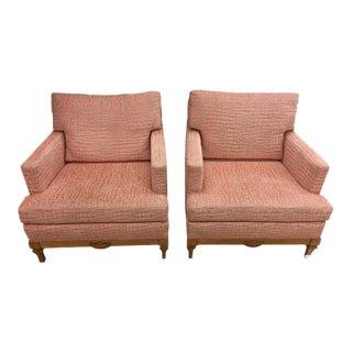 Pink Plush Alligator Club Chairs - A Pair