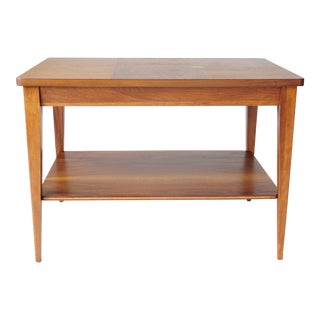 Mid-Century Modern Walnut Inlay Side Table For Sale