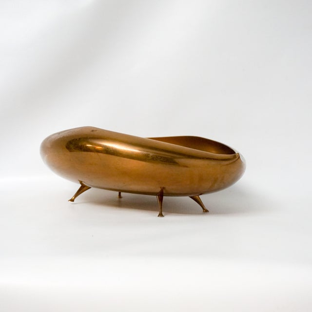 Mid-Century Modern Saxton Bronze Anthropomorphic Footed Bowl For Sale - Image 3 of 7