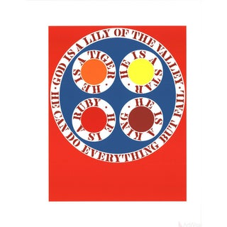 Robert Indiana, God Is Lily of the Valley, 1997, Serigraph For Sale