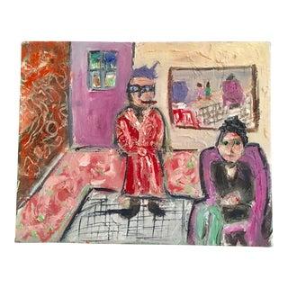 "JJ Justice ""La Famila"" Oil Painting"